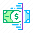 business, checking, currency, fake, finance, money, tape icon