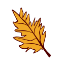 leaf, autumn, fall, nature, tree, outline