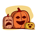 autumn, fall, halloween, holiday, jack, lanterns, pumpkin icon