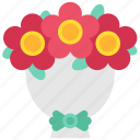 celebrity, crown, decoration, fame, flowers, popularity, wreath icon