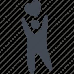 family, heart, like, love icon