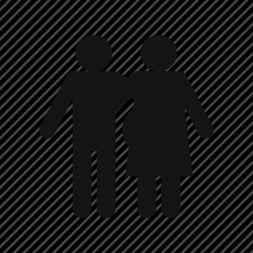 boy, female, male, man, people, pregnant, woman icon