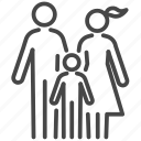 family, group, happy, home, parent, people icon