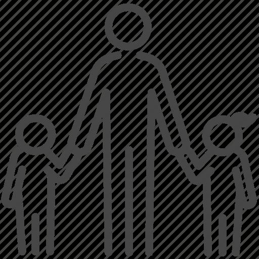 children, family, nanny, people, person, single dad icon