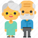 grandparents, parents, grandfather, family, people, live, grandmother icon