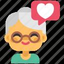 gran, like, family, love, heart, grandmother, people icon