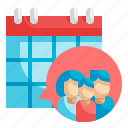 calendar, event, family, schedule, day