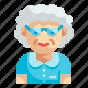 grandmother, elderly, woman, grandma, avatar