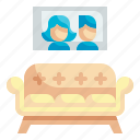 sofa, room, living, house, furniture