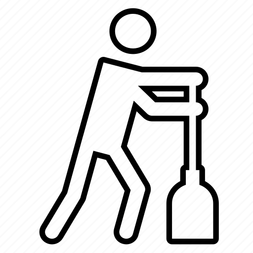 broom, clean, cleaner, cleaning, floor icon