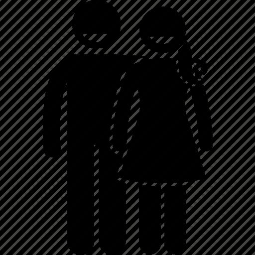 husband, spouse, stick figure, stick man, stickman, together, wife icon