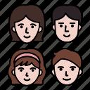 children, boy, family, man, mother, team, group