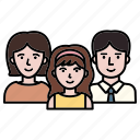 child, family, group, man, member, mother, team icon