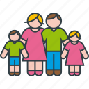 boy, children, family, father, girl, mother, parents icon