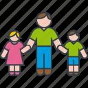 boy, daughter, family, father, girl, son icon