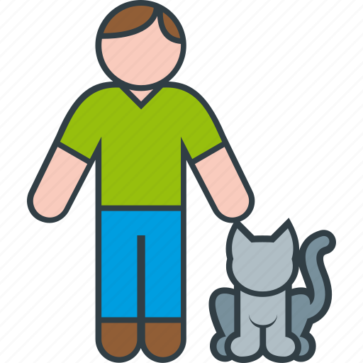 Animal, cat, kitty, male, man, pet icon - Download on Iconfinder