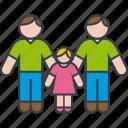 family, gender, girl, men, parents, same icon