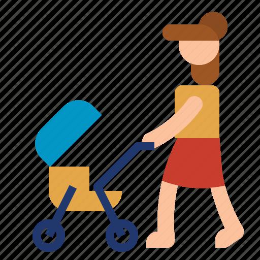 car, child, family, mothter icon