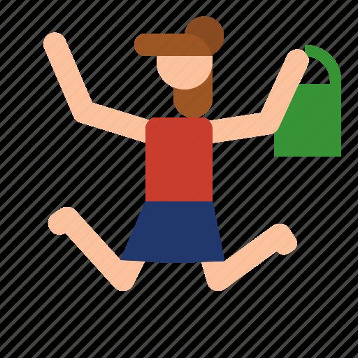 girl, mother, shopping, son icon
