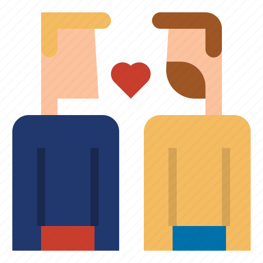 couple, gay, kiss, love, man icon