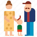couple, daughter, grandfather, grandmother icon