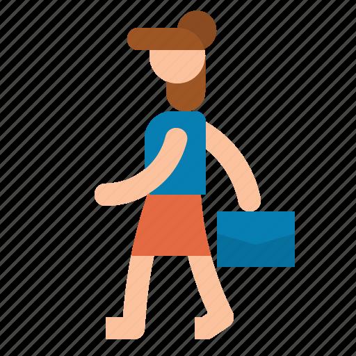 mother, walk, women, working icon