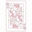 cards, game, play, queen, solitaire, spades icon
