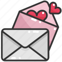 contact, email, envelope, letter, love, mail, message icon