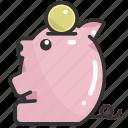 bank, cash, coin, money, piggy bank, save, savings icon