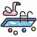 holiday, ladder, pool, summer, swimming, swimming pool, water icon