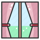 curtains, decoration, furniture, nature, window, windows