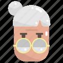 avatar, grandmother, people, user, woman icon