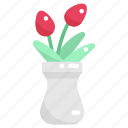blossom, flower, flowers, nature, petals, plant pot, vase icon