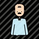 avatar, grandfather, grandpa, grandparent, man, person, user