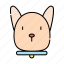 animal, cartoon, cute, dog, doggy, emoji, pet