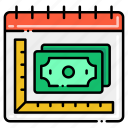 allowance, budget, money, monthly icon