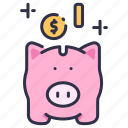 bank, business, cash, coin, currency, finance, money icon