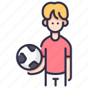 activity, ball, boy, child, football, kid, sport icon