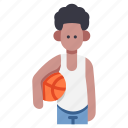 ball, basketball, boy, child, kid, person, sport icon