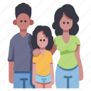 child, family, father, girl, happy, mother, together icon