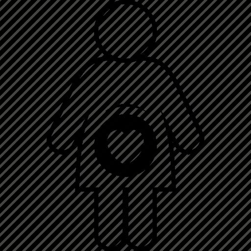 child, enceinte, gravid, impregnate, pregnant, with icon