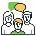 influence, interference, problem, relatives icon