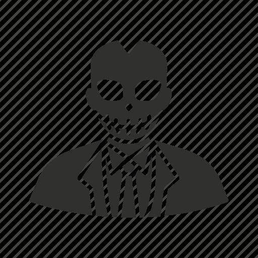 bad guy, halloween, skeleton, villain icon