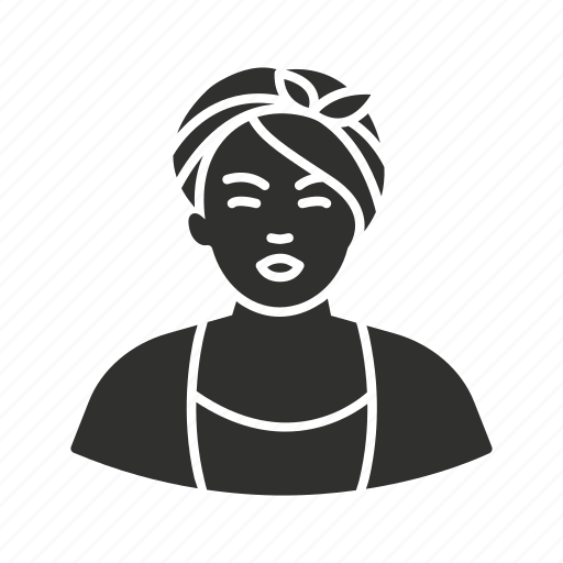 aunt jemima, butterworth, girl, woman icon