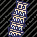 tower of pisa, italy, europe, pisa