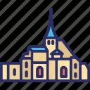 mont st. michel, france, castle, fortress