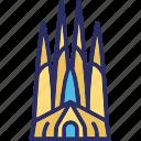 sagrada familia, barcelona, spain, cathedral