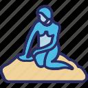 little mermaid, copenhagen, denmark, mermaid statue