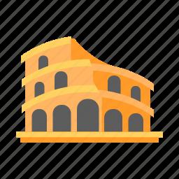 coliseum, colosseum, italy, roman colosseum, rome, stone amphitheater, travel icon