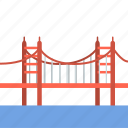bridge, california, gate, golden, golden gate, golden gate bridge, travel icon